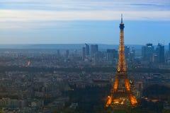 Eiffel tower at night Stock Photos