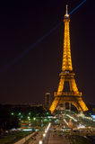 Eiffel tower at night. Time Royalty Free Stock Photos