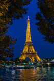 Eiffel Tower - night view Royalty Free Stock Image