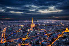 Eiffel Tower and Paris skyline Stock Photography