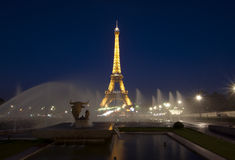 Eiffel Tower at nightfall Stock Image