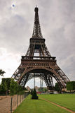 Eiffel tower - old famous building of Paris city Stock Image