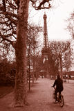 Eiffel Tower in Old times, Paris Royalty Free Stock Photo