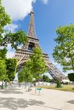 Eiffel Tower one field of Mars in Paris, France Stock Photography