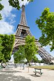 Eiffel Tower one field of Mars in Paris, France Royalty Free Stock Photos