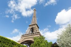 Eiffel Tower one field of Mars in Paris, France Stock Photo