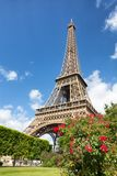 Eiffel Tower one field of Mars in Paris, France Royalty Free Stock Photography