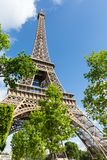 Eiffel Tower one field of Mars in Paris, France Stock Photos