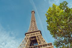 The Eiffel Tower in Paris. stock photo