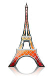 Eiffel tower orange. Eiffel tower designed in a glossy style vector illustration
