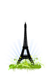 Eiffel tower ornaments design Royalty Free Stock Photos