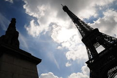 Eiffel Tower Outline stock image
