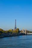 Eiffel tower over Alexandre III Bridge, Paris Royalty Free Stock Photo