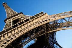Eiffel Tower over the blue sky Stock Photo
