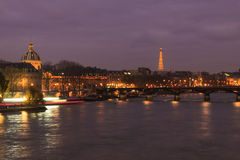 Eiffel Tower over the River Seine Stock Image
