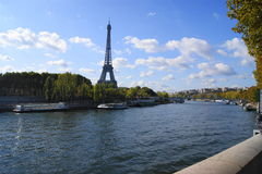 Eiffel Tower over the Sienne Stock Photography