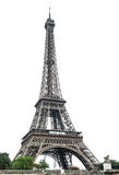 Eiffel Tower over white background royalty free stock photo
