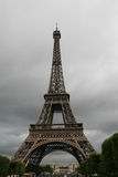 Eiffel Tower Overcast Stock Image