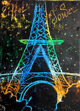 Eiffel Tower painted Stock Image