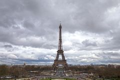 Eiffel Tower from Palais de Chaillot in Paris stock images