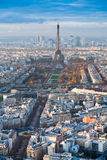 Eiffel Tower and panorama of Paris Stock Photo
