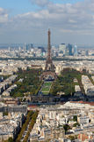 Eiffel Tower and panorama of Paris in autumn Royalty Free Stock Image