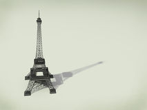 Eiffel Tower in Paris. 3d illustration on a beige background Stock Photo