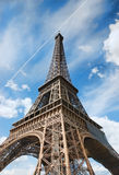 Eiffel Tower (Paris). View of Eiffel Tower (Paris stock photography