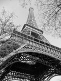 Eiffel Tower, Paris. Black and white view of Eiffel Tower, Paris on a winters day Stock Images