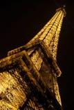 Eiffel Tower, Paris. Close up Eiffel Tower by night, Paris Stock Images