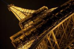 Eiffel Tower, Paris. Close up Eiffel Tower by night, Paris Royalty Free Stock Photos