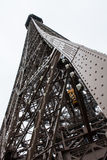 Eiffel tower Paris. Detail view of the Eiffel tower of Paris royalty free stock photo