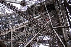 Eiffel tower Paris. Detail view of the Eiffel tower of Paris Stock Photography