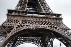 Eiffel tower Paris. Detail view of the Eiffel tower of Paris stock photo