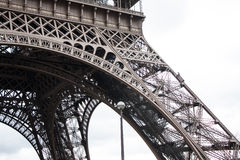 Eiffel tower Paris. Detail view of the Eiffel tower of Paris royalty free stock image