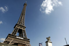 Eiffel Tower of Paris. France in a summer day Royalty Free Stock Image