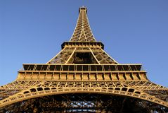 Eiffel tower of Paris. In very large plan Royalty Free Stock Photography