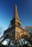 Eiffel Tower of Paris. On a vey blue sky Stock Photos