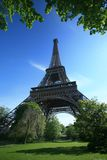 Eiffel Tower of Paris. On a vey blue sky Royalty Free Stock Photography