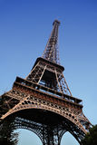 Eiffel tower in Paris. Blue sky on background royalty free stock photos