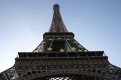 Eiffel Tower Paris. Low angle view of Eiffel Tower, Paris, France Stock Photo