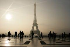 Eiffel Tower in Paris. The Famous landmark Eiffel Tower in Paris Royalty Free Stock Photos