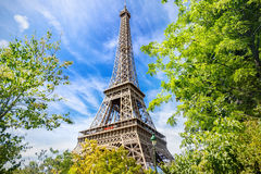 Eiffel Tower. The Eiffel Tower in Paris stock photo