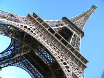 Eiffel Tower, Paris. Eiffel tower in Paris. Blue sky on background Royalty Free Stock Photography