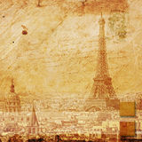 Eiffel tower Paris, abstract digital art. Digital painting printable in very high resolution on canvas Royalty Free Stock Images