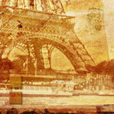 Eiffel tower Paris, abstract digital art Royalty Free Stock Image
