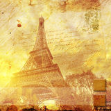 Eiffel tower Paris, abstract digital art. Digital painting printable in very high resolution on canvas Royalty Free Stock Image