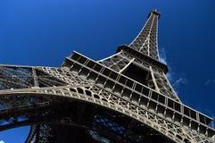 Eiffel Tower, Paris. Eiffel Tower against a blue sky Stock Photo