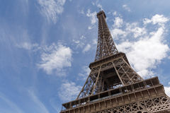 Eiffel tower in Paris. Against cloudy sky Royalty Free Stock Image