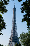 Eiffel Tower. The Eiffel tower in Paris, as seen from the Trocadero Metro station Stock Image